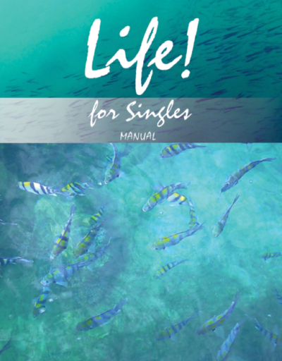 Life! for singles. A Christian self discovery study looking at identity, character, friendships and relationships. The workbook has 9 units for use alone or as part of larger study group. Looking at how to do friendships and relationships well, how to be the best that you can be.
